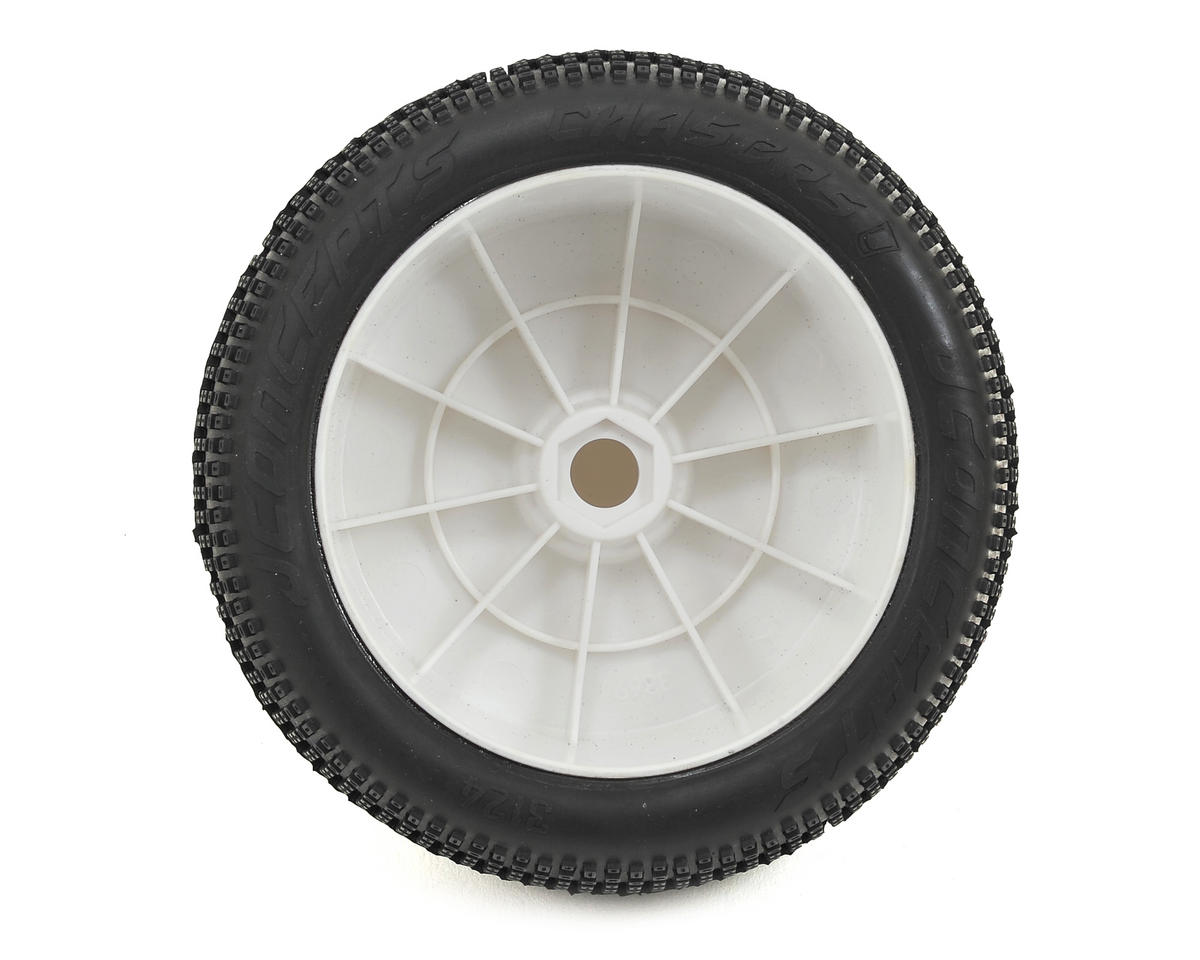 "JConcepts Chasers 4.0"" Pre-Mounted 1/8th Truggy Tires (2) (White)"