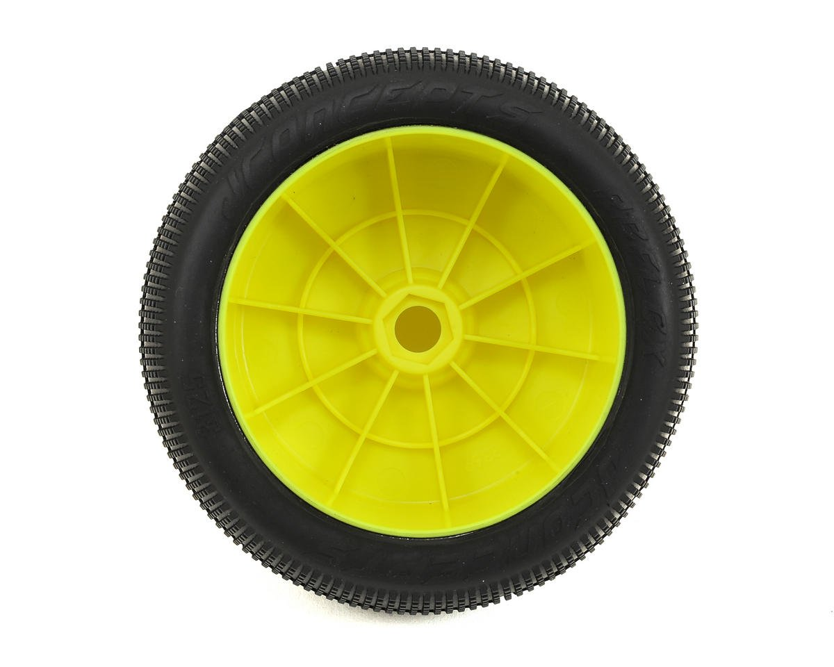 """JConcepts Reflex 4.0"""" Pre-Mounted 1/8th Truggy Tires (2) (Yellow) (Green)"""