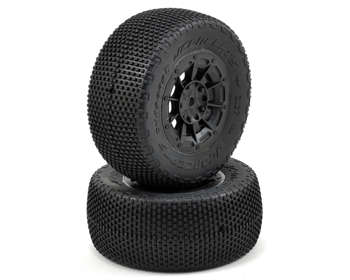 JConcepts LiL Chasers Pre-Mounted SC Tires w/Hazard Wheel (2) (Losi TEN-SCTE)