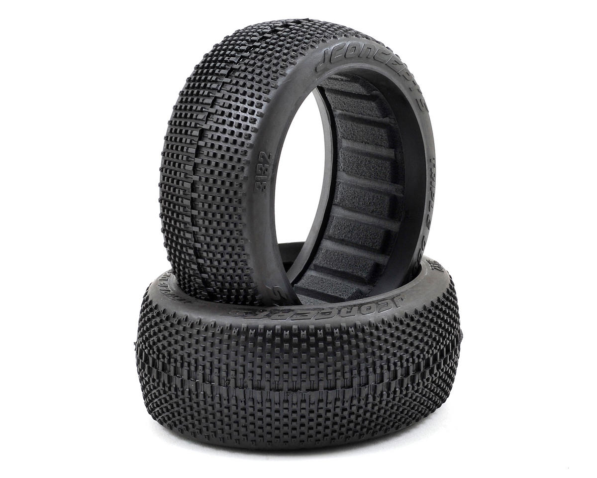 JConcepts Triple Dees 1/8th Buggy Tires (2) (Green)