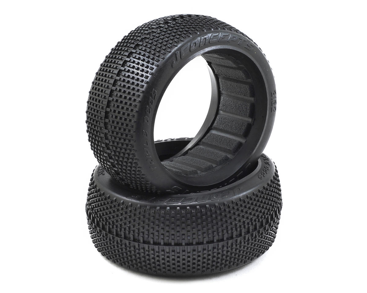 JConcepts Triple Dees 1/8th Buggy Tires (2) (Black)