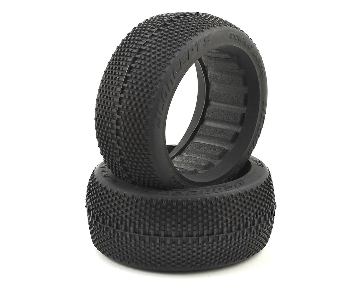 JConcepts Triple Dees 1/8th Buggy Tires (2) (Red2 - Long Wear)