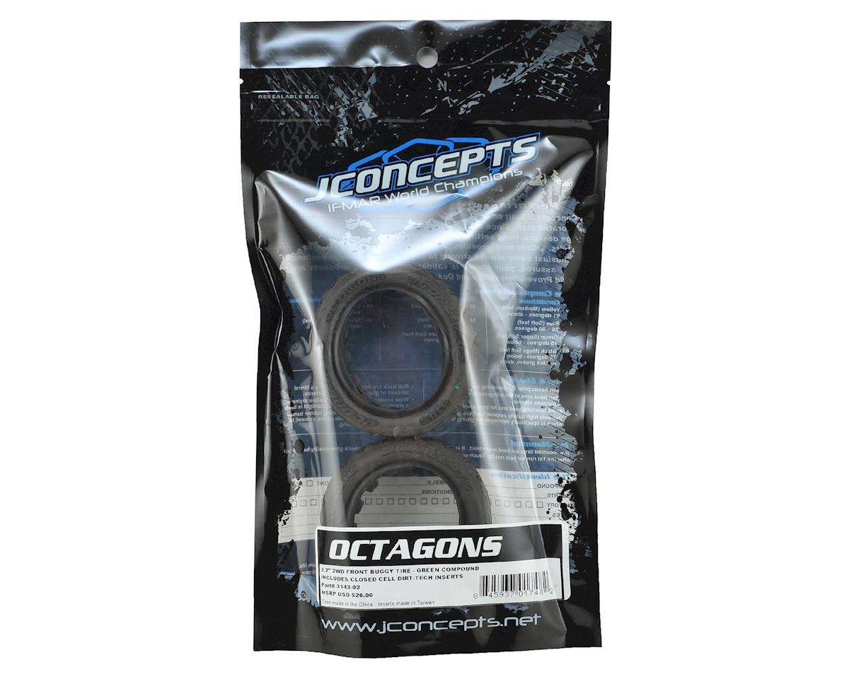 """JConcepts Octagons 2.2"""" 2WD Front Buggy Tires (2) (Green)"""