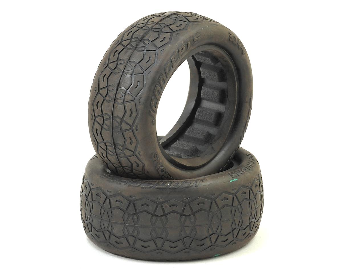 """Octagons 2.2"""" 4WD 1/10 Front Buggy Tires (2) (Green) by JConcepts"""