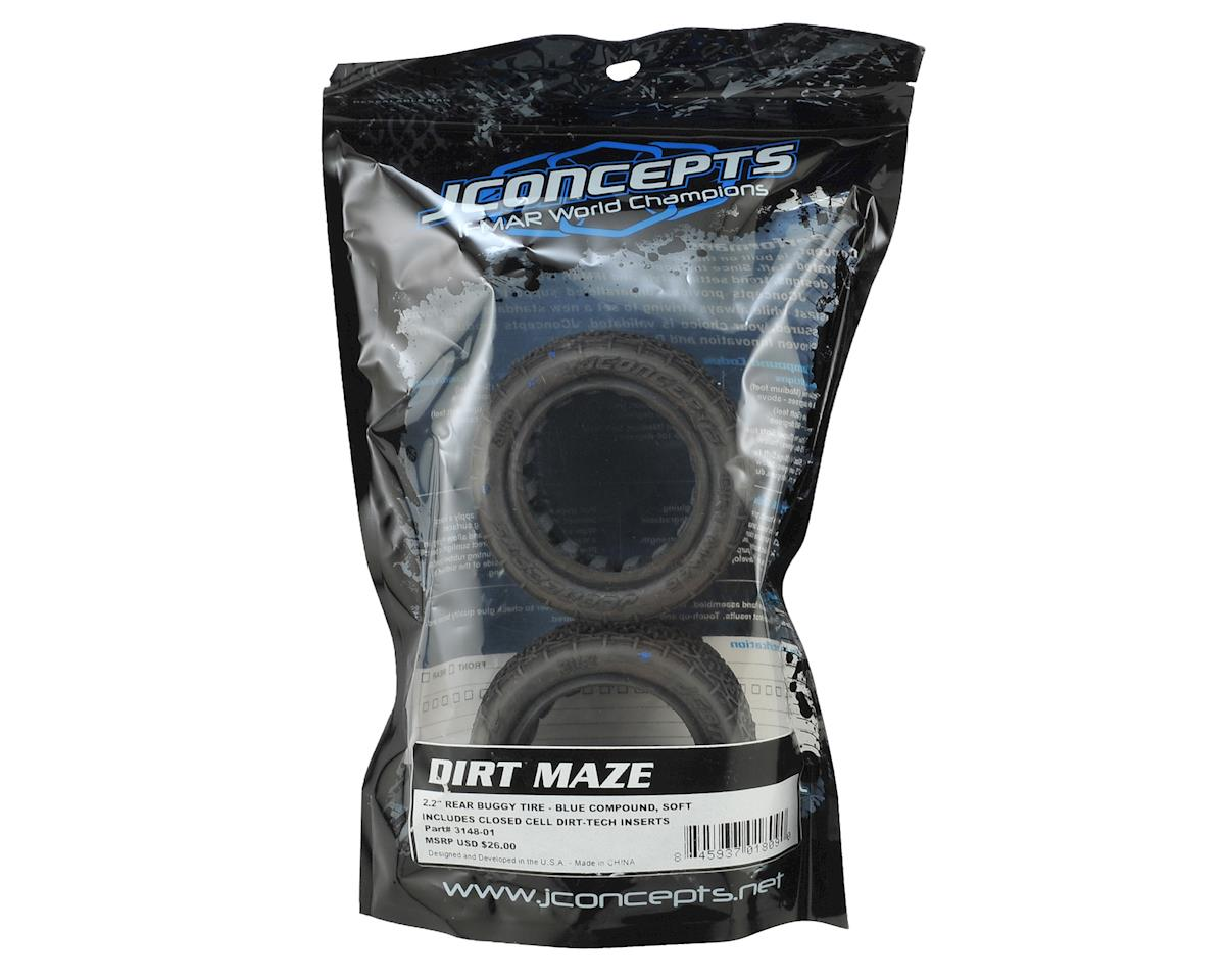 "JConcepts Dirt Maze 2.2"" Rear Buggy Tire (2) (Blue)"