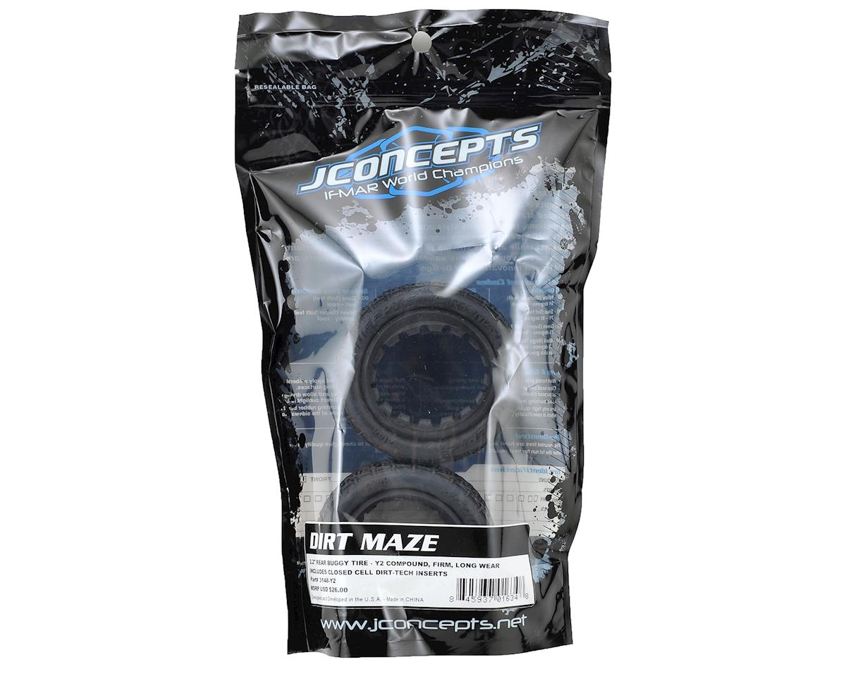 """Dirt Maze 2.2"""" Rear Buggy Tire (2) (Y2) by JConcepts"""
