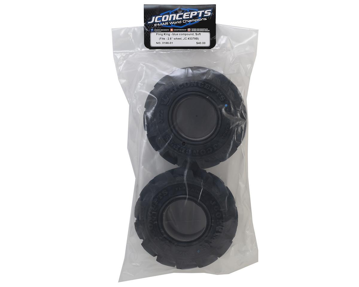 "JConcepts Fling King 2.6"" Mega Monster Truck Tires (2) (Blue)"