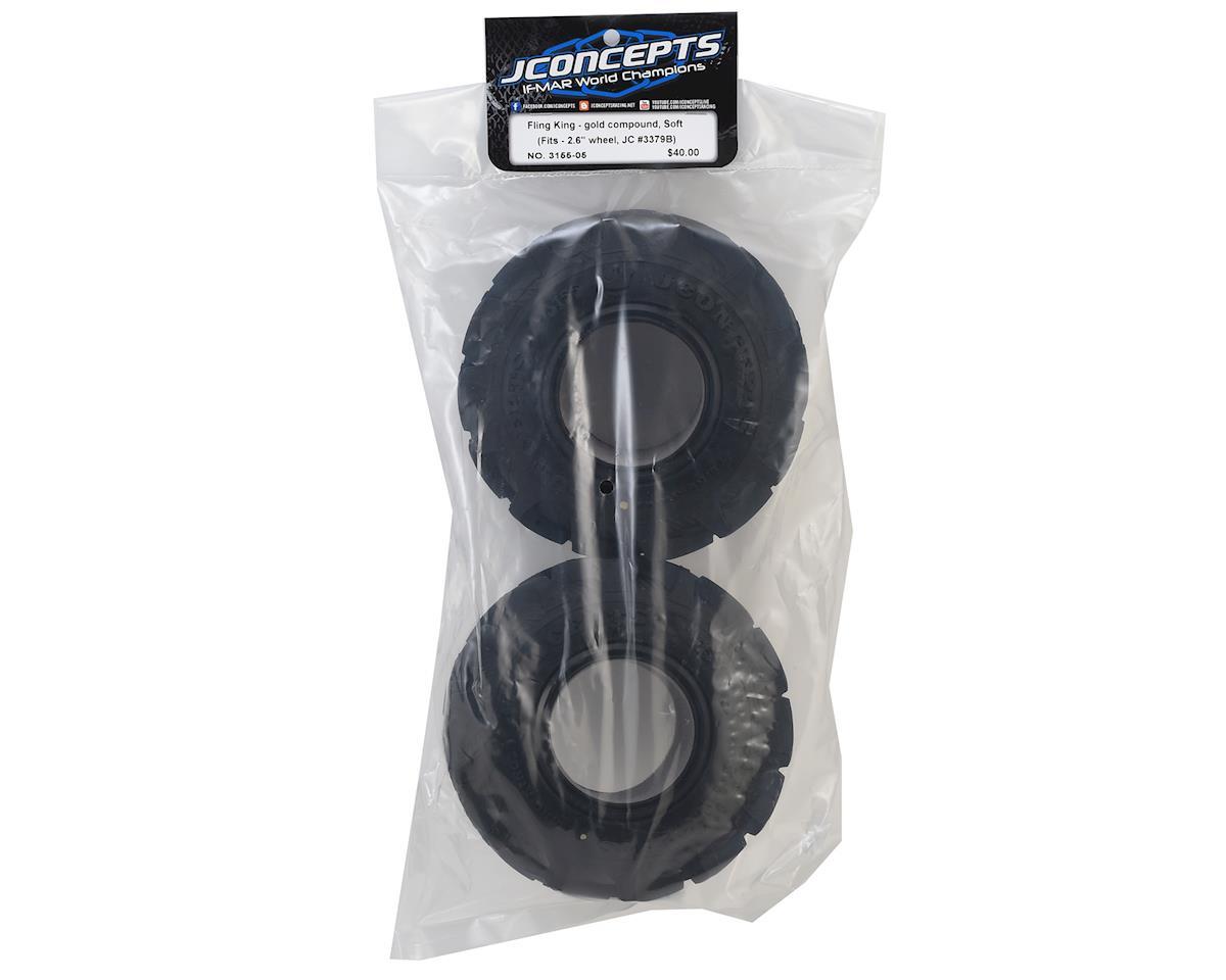 "JConcepts Fling King 2.6"" Mega Monster Truck Tires (2) (Gold)"
