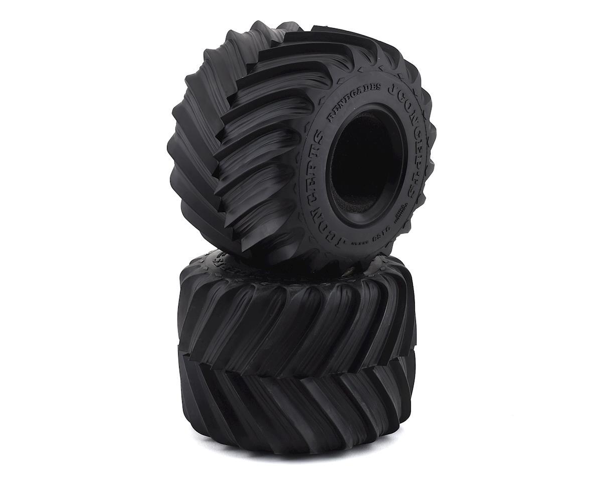 "JConcepts 5.8"" Renegades Monster Truck Tire w/React Foams (Blue) (2)"
