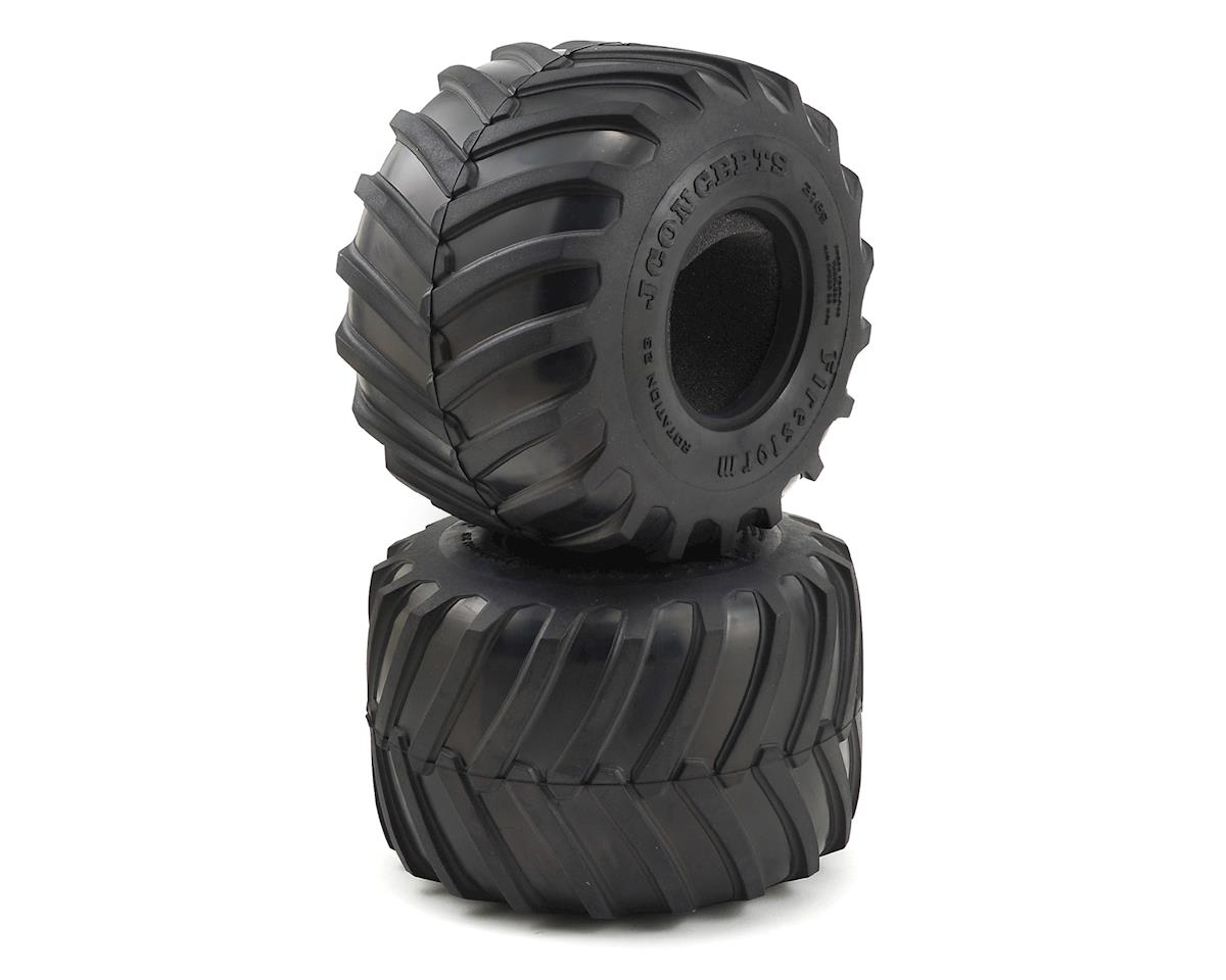 "JConcepts 2.6"" Firestorm Monster Truck Tires (2) (Blue)"