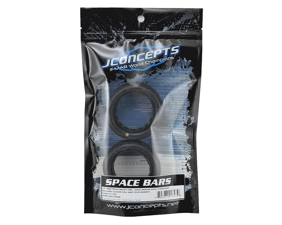 "JConcepts Space Bars 2.2"" 2WD Front Buggy Tire (2) (Gold)"