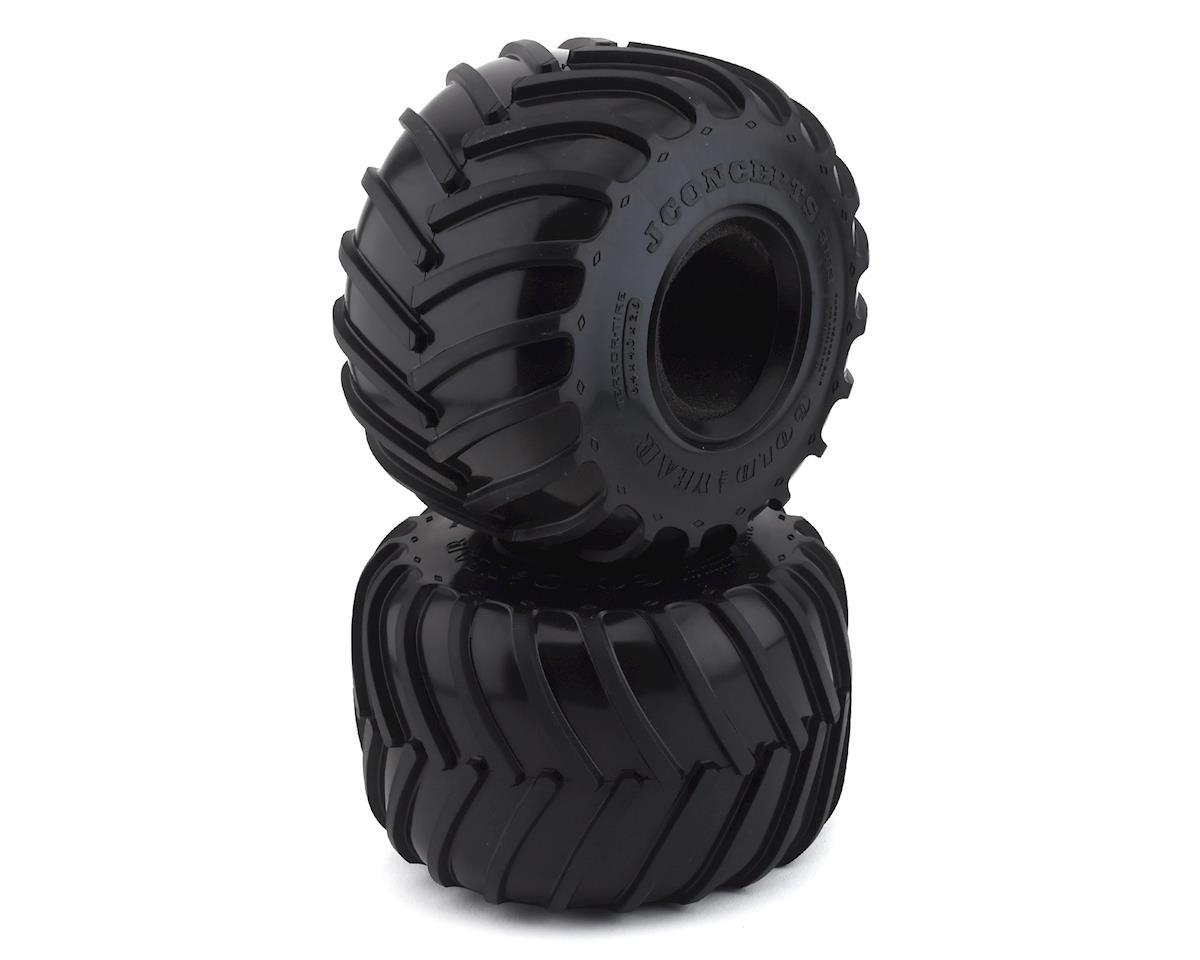 "JConcepts Golden Years 2.6"" Monster Truck Tires (2) (Gold)"