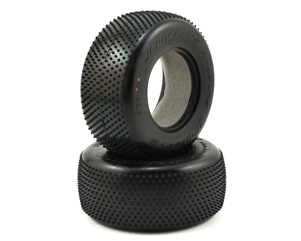 JConcepts Pin Downs Carpet Short Course Tires (2) (Pink)