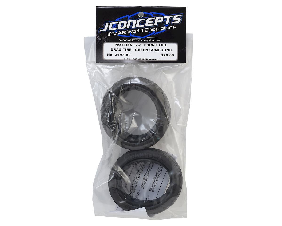 """JConcepts Hotties Street Eliminator 2.2"""" Drag Racing Front Tire (2) (Green)"""