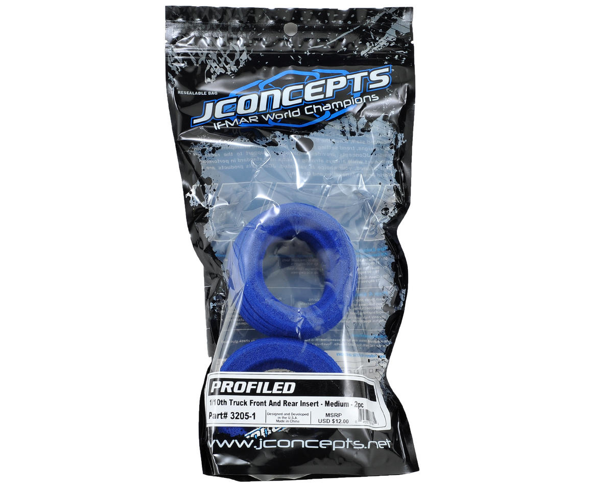 JConcepts Profiled 1/10 Truck Tire Insert (Medium) (2)