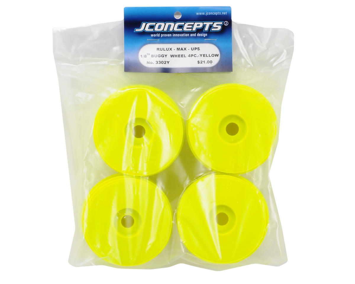 Mono 1/8th Buggy Wheel Max-Ups (4) (Yellow) by JConcepts