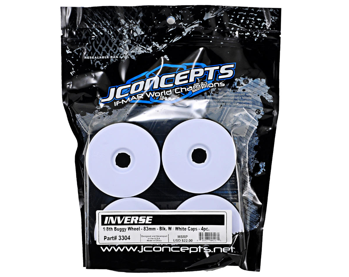 JConcepts Inverse 1/8th Buggy Wheels (4) (White)