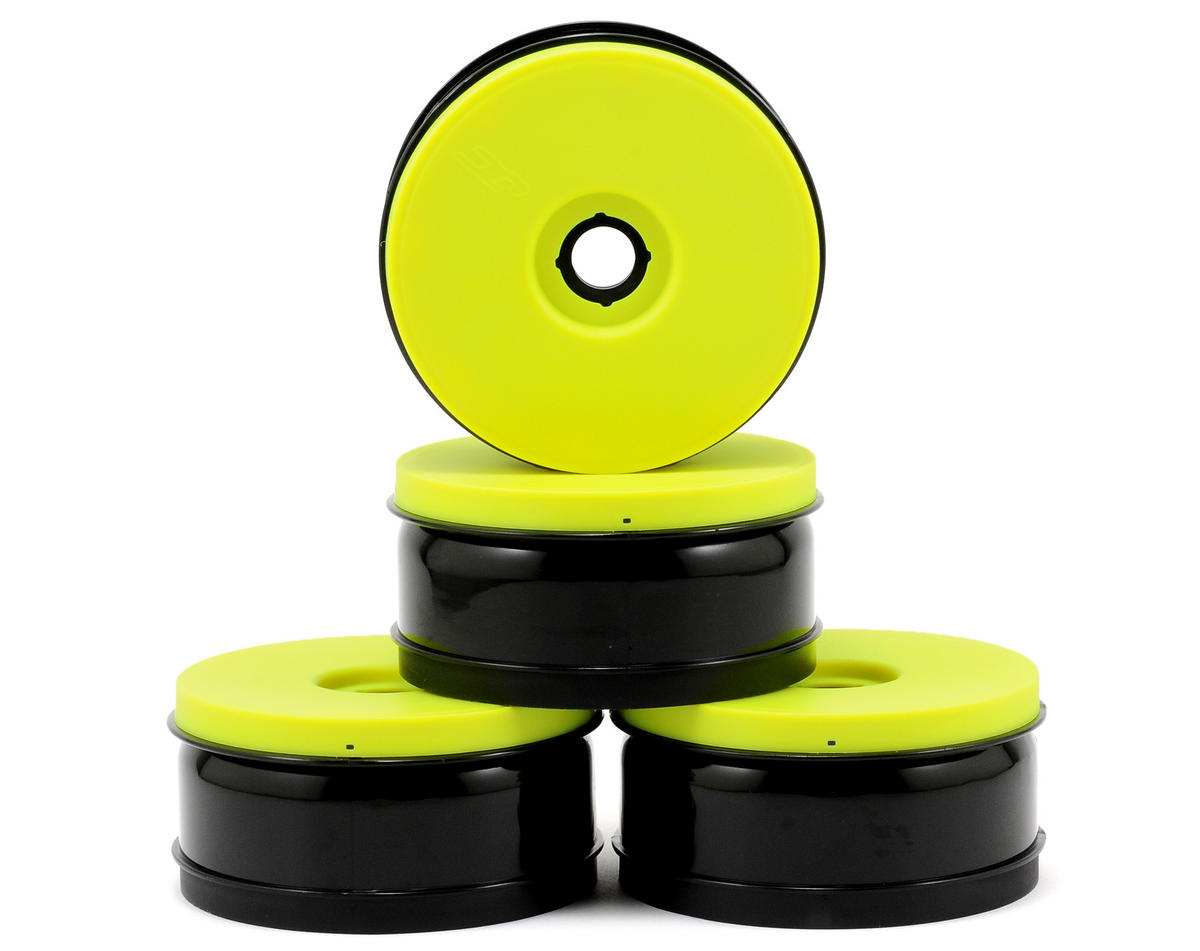 JConcepts Inverse 1/8th Buggy Wheels (4) (Yellow)