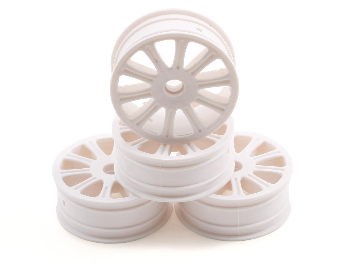 JConcepts Rulux Associated B4 Front Wheel (4) (White)