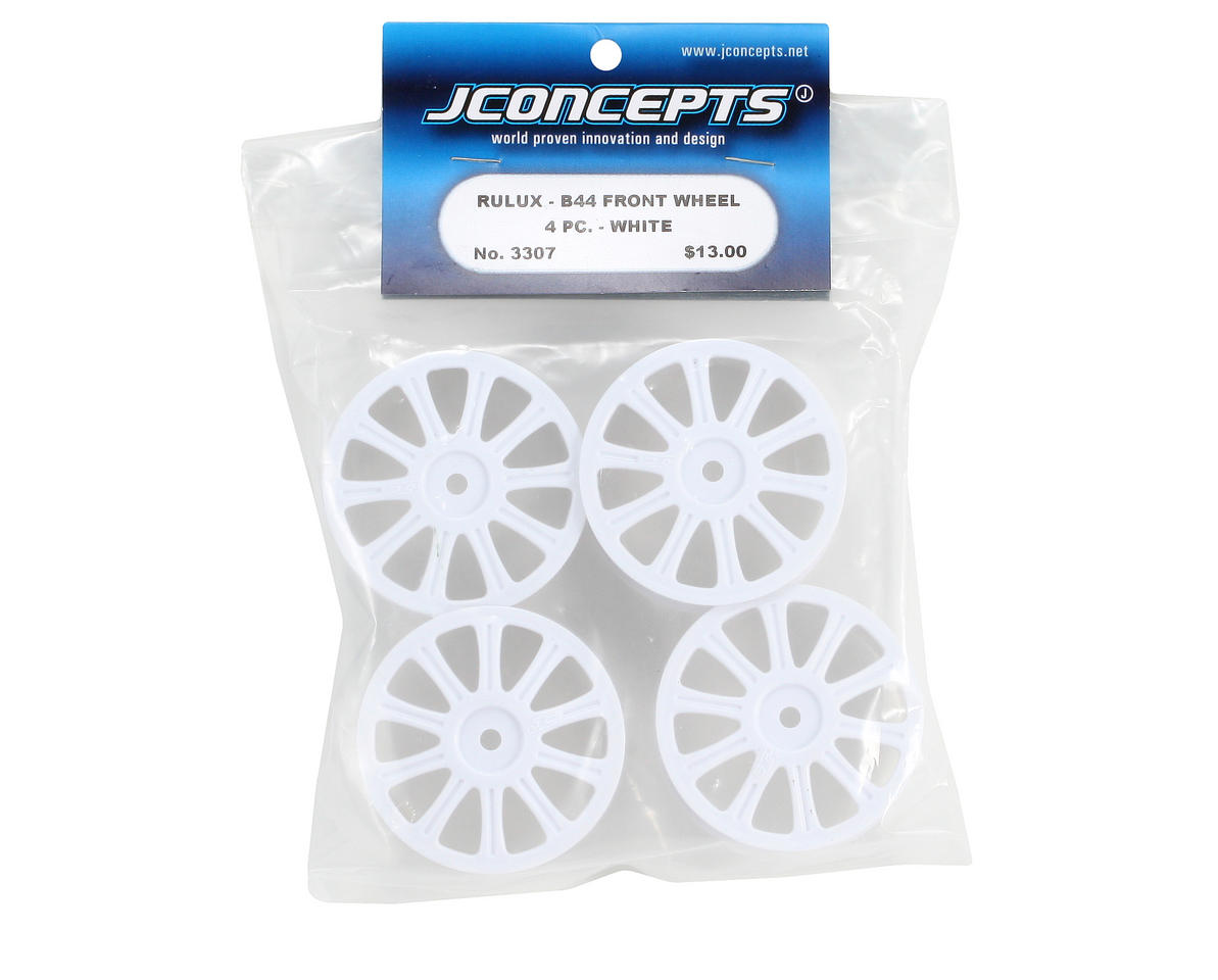 JConcepts Rulux Associated B44 Front Wheel (4) (White)