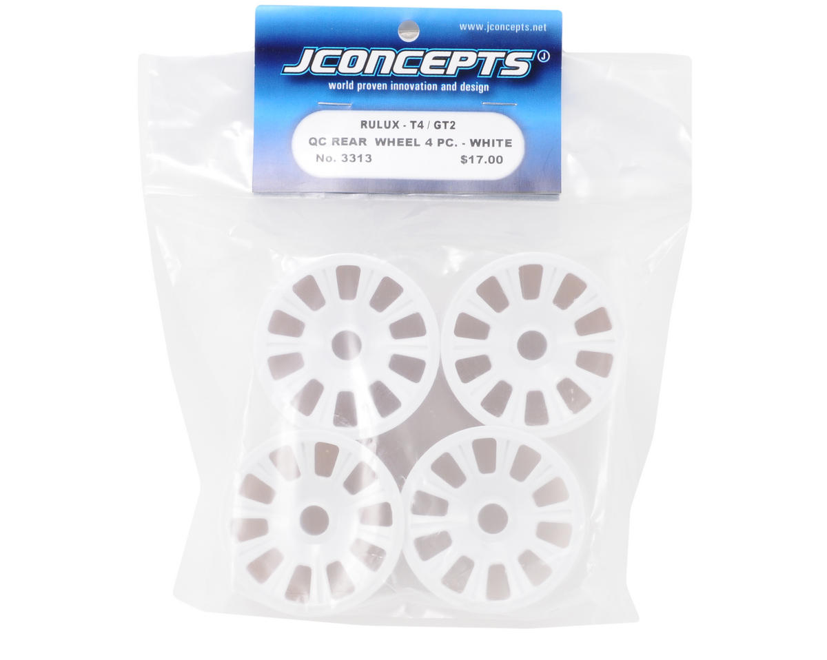 JConcepts Rulux RC10T4/GT2 Quick Change Rear Wheel (White) (4)
