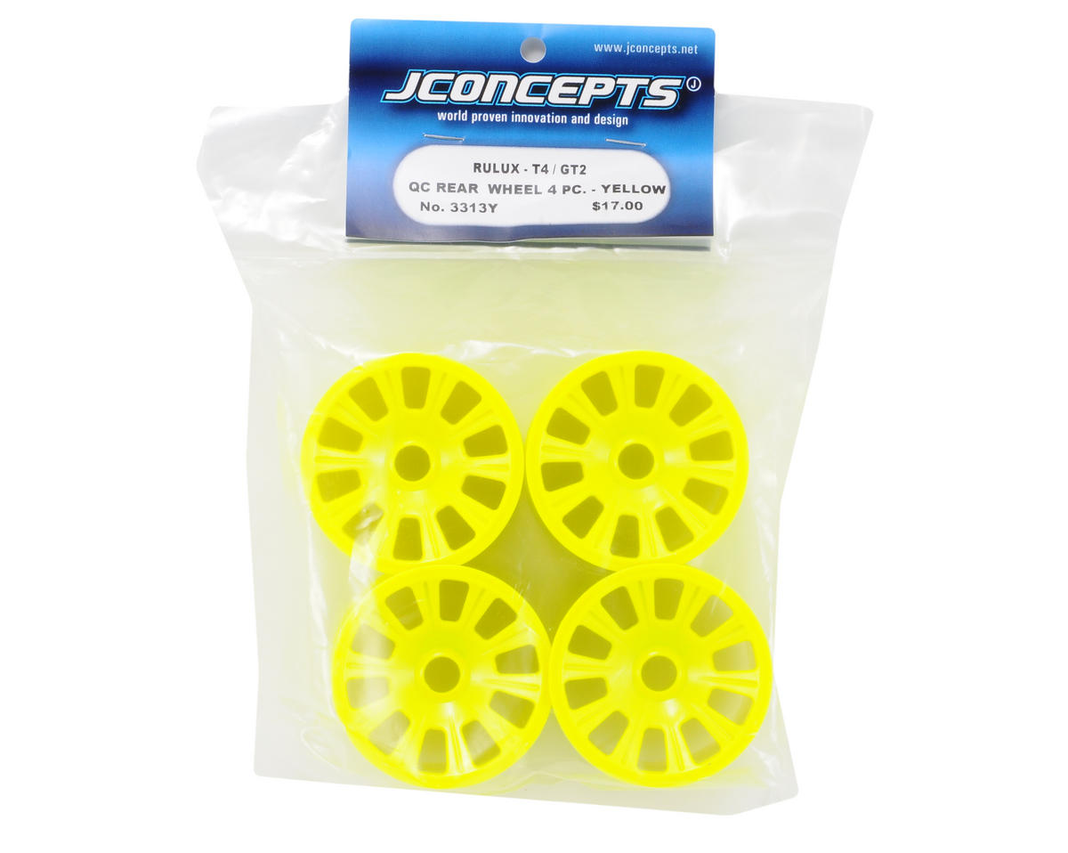 JConcepts Rulux Quick Change Rear Wheel (4) (RC10T4/GT2) (Yellow)