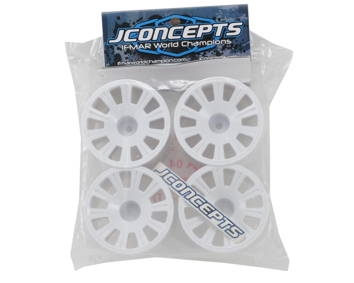 JConcepts Rulux RC10T4 Rear Wheels Standard Axles (White) (4)