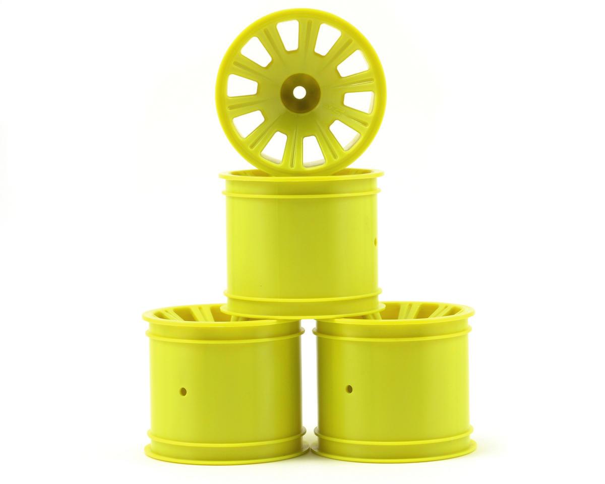 JConcepts Rulux Standard Axle Rear Wheels (4) (RC10T4) (Yellow)