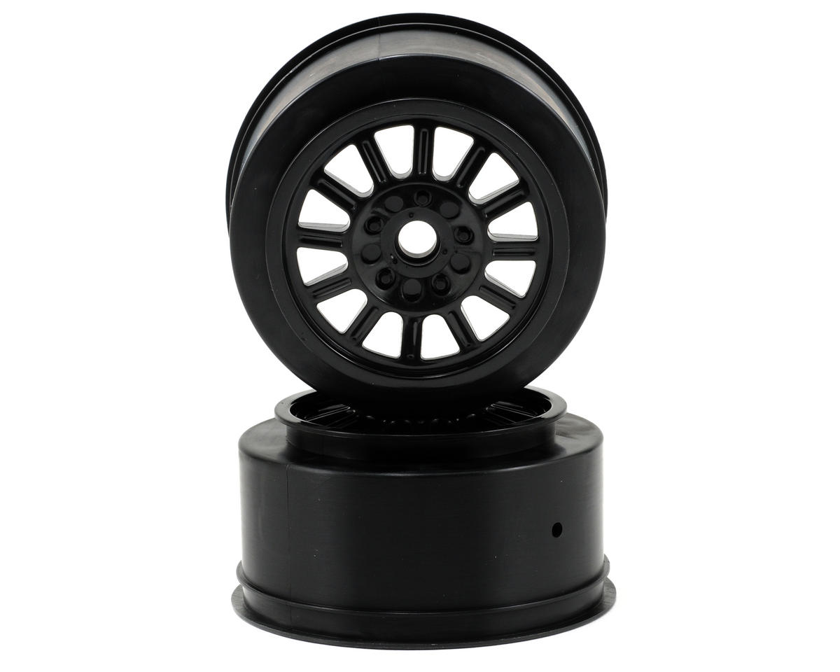 JConcepts Rulux Short Course Wheels (Black) (2) (SC10 Front) (Not Hex)