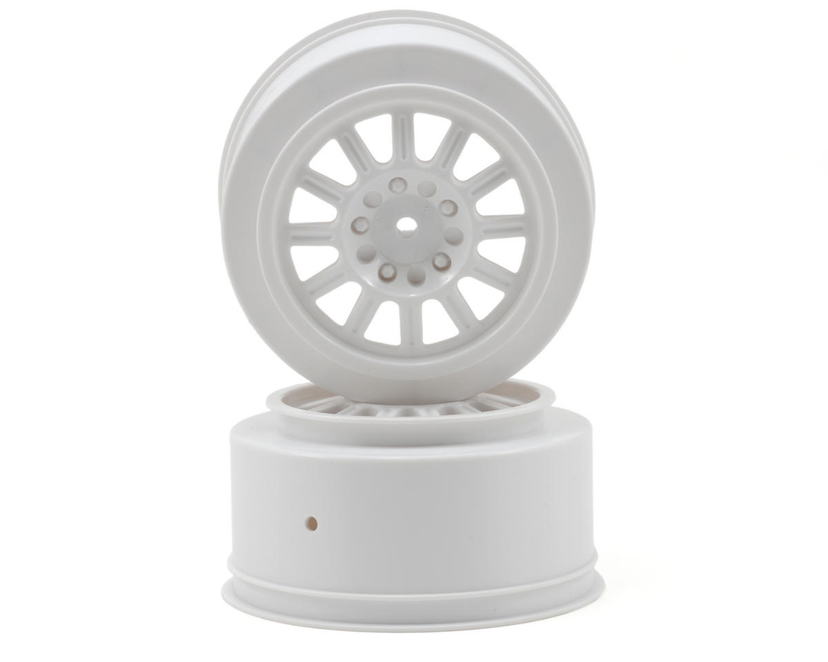 JConcepts Rulux Short Course Wheels (White) (2) (SC10 Rear) (Not Hex)