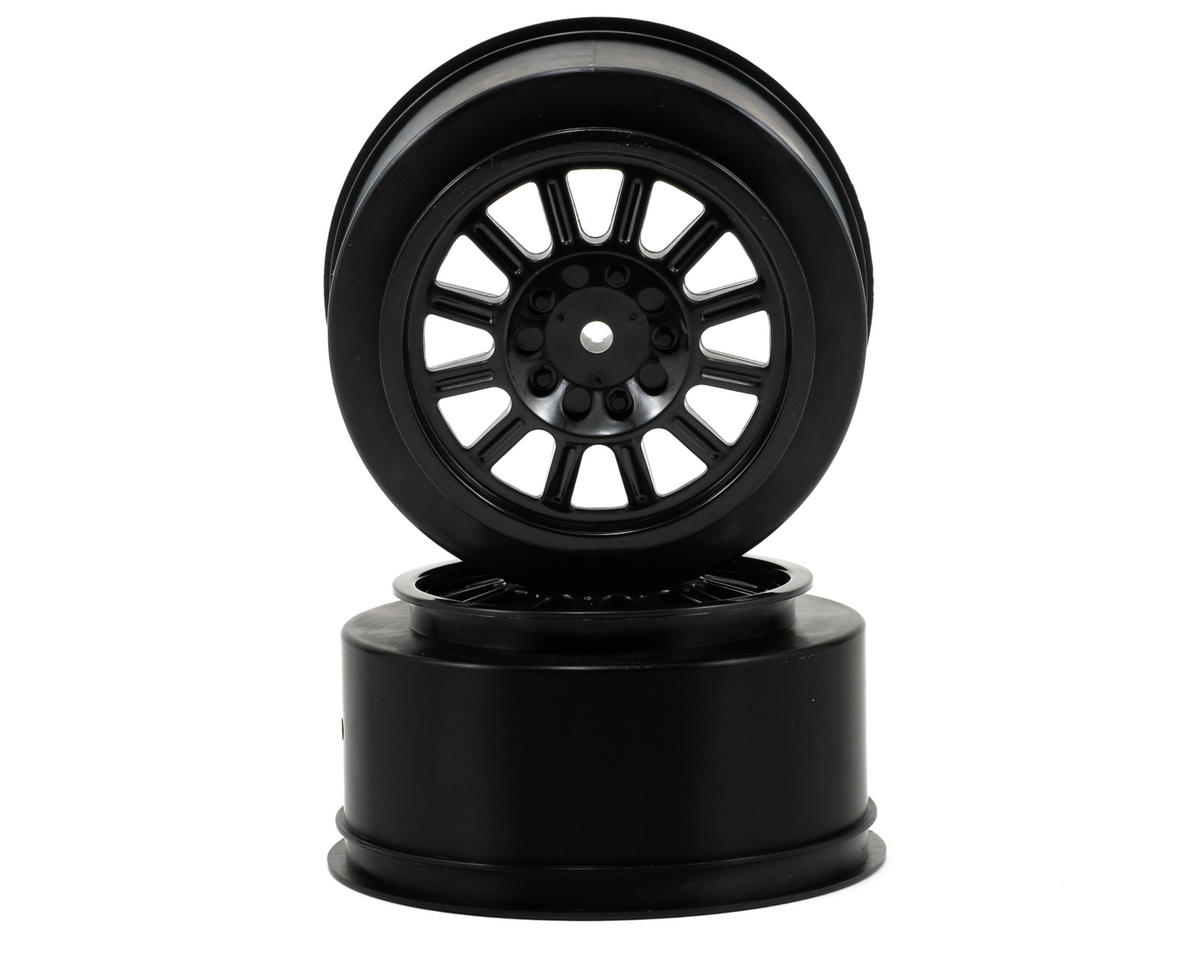Rulux Short Course Wheels (Black) (2) (SC10 Rear) (Not Hex) by JConcepts