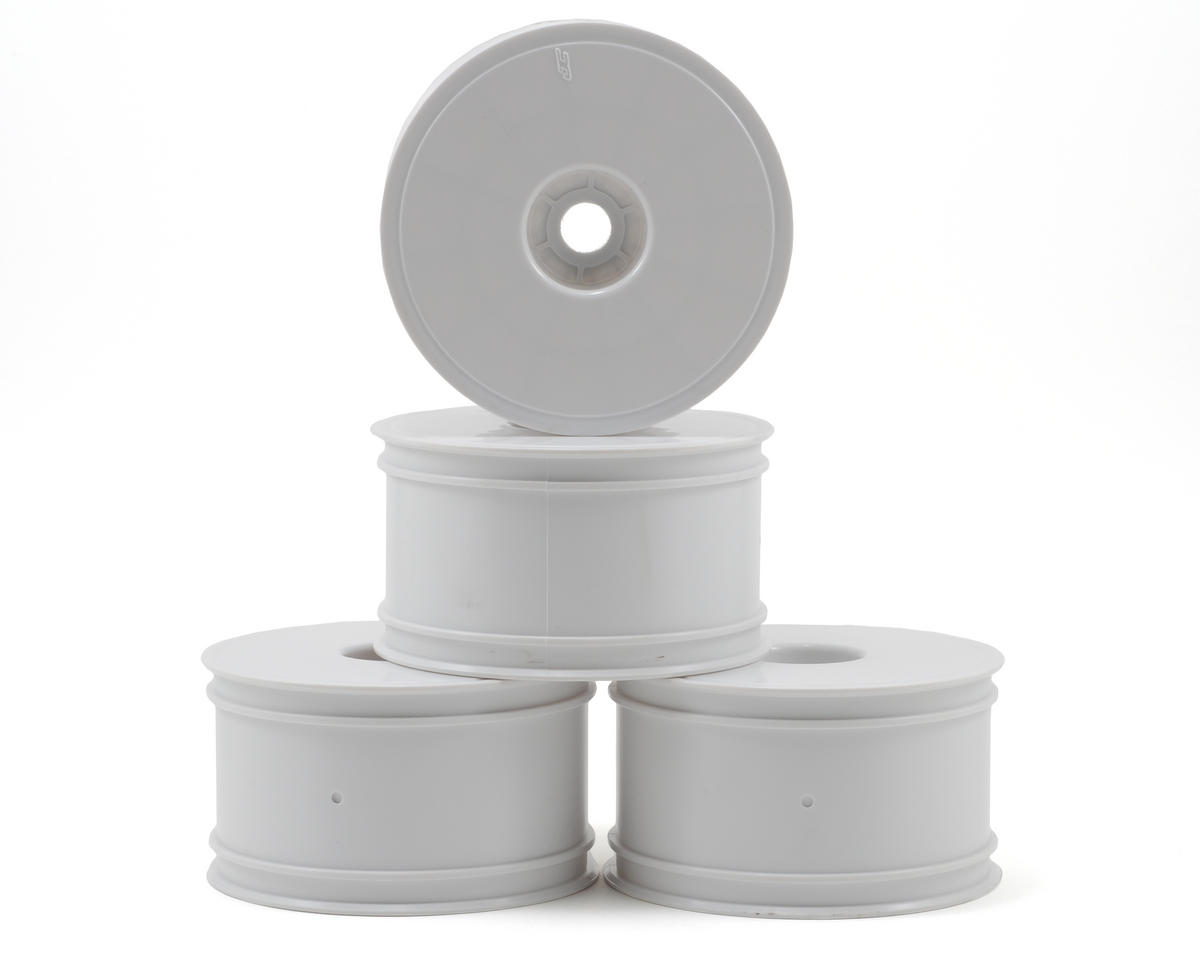 "JConcepts Mono 3.7"" Standard Offset 1/8 Truck Wheels (4) (White)"
