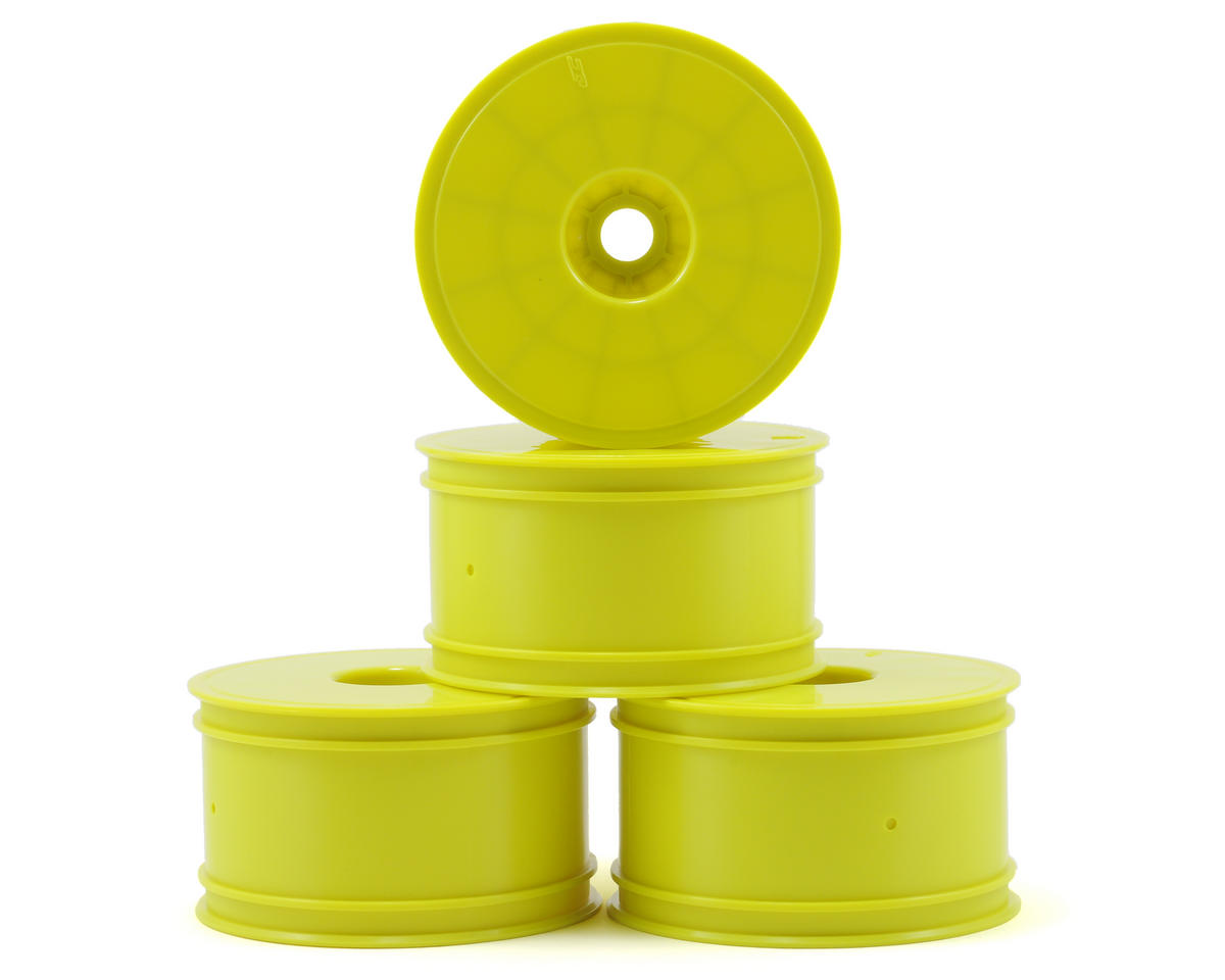 "JConcepts Mono 3.7"" Standard Offset 1/8 Truck Wheels (4) (Yellow)"