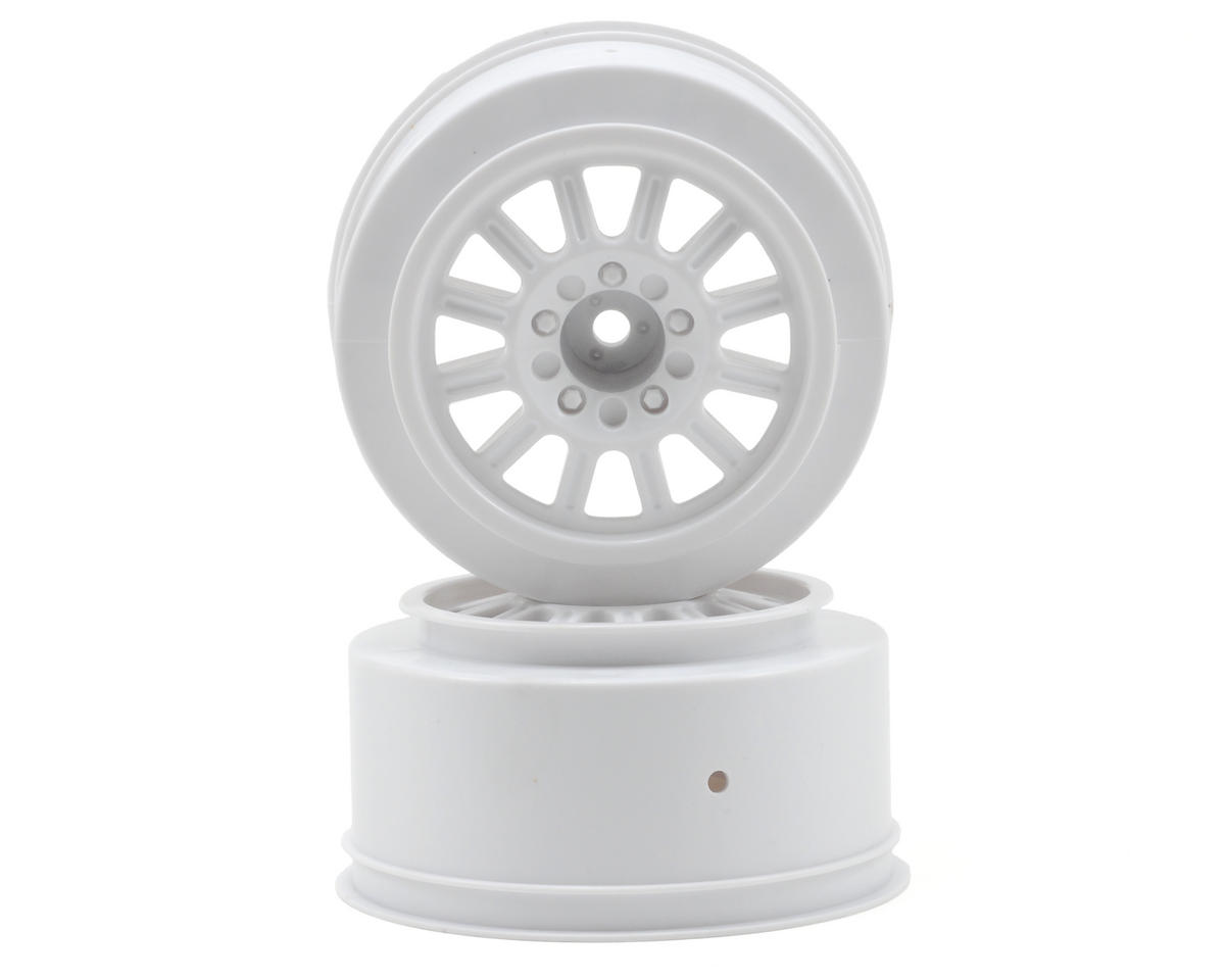 JConcepts 12mm Hex Rulux Short Course Wheels (White) (2) (Slash Front)