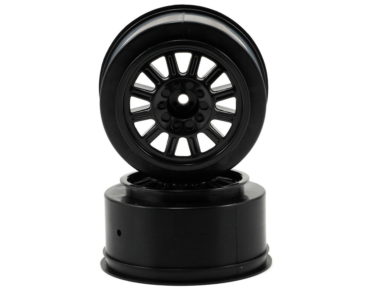 JConcepts 12mm Hex Rulux Short Course Wheels (Black) (2) (Slash/Blitz) (OFNA Jammin SCRT 10)