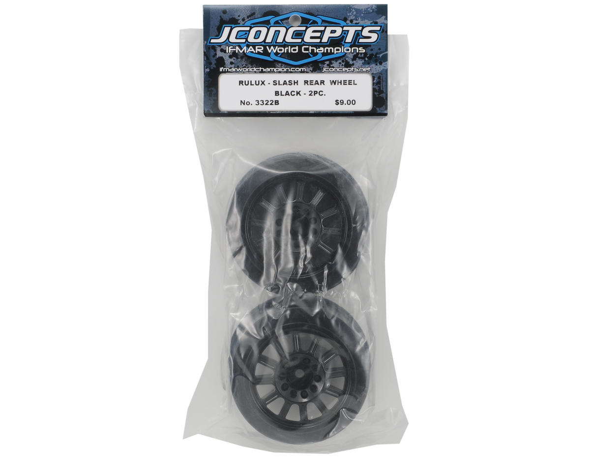 JConcepts 12mm Hex Rulux Short Course Wheels (Black) (2) (Slash/Blitz)