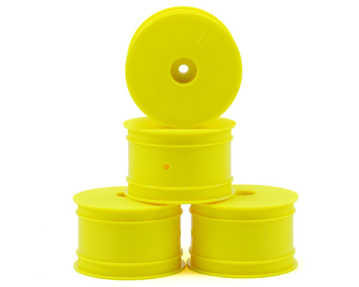 JConcepts 12mm Hex Mono 2.2 Rear Wheels (4) (TLR 22 5.0) (Yellow) (Losi 5.0 AC)