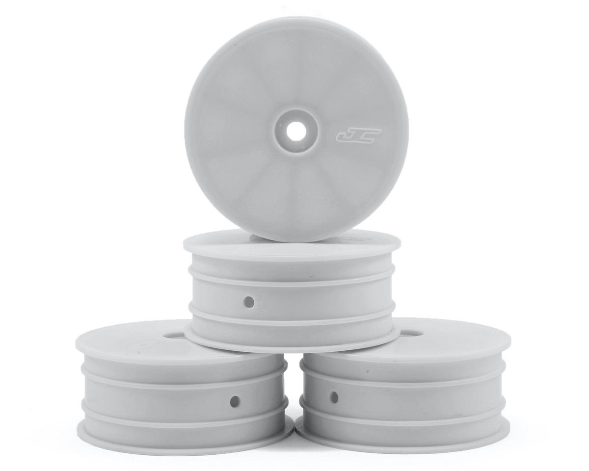 White ASC92095 Team Associated 12mm Hex 2.2 4WD Front Buggy Wheels 2 B64