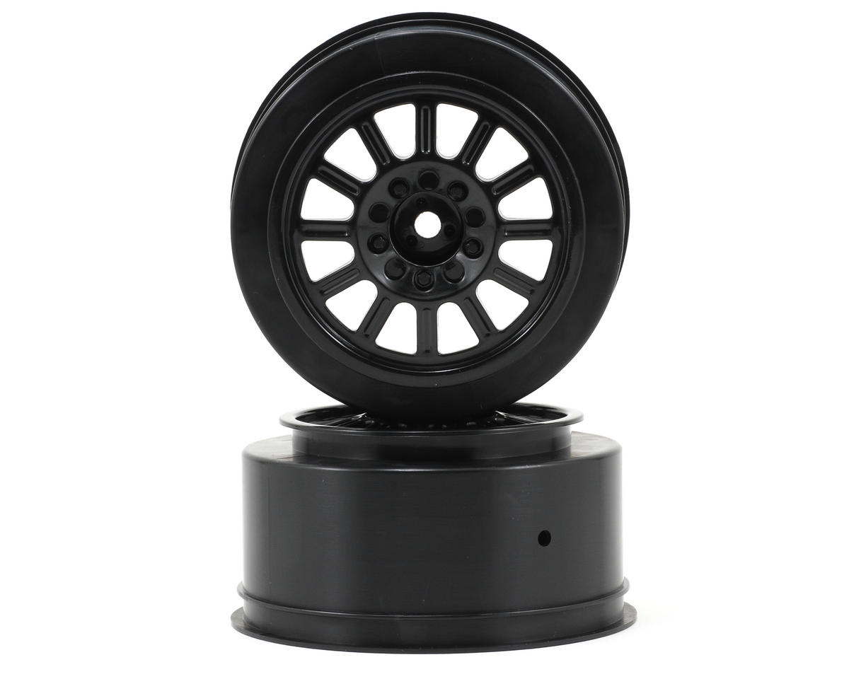 JConcepts 12mm Hex Rulux Short Course Wheels (Black) (2) (Blitz)