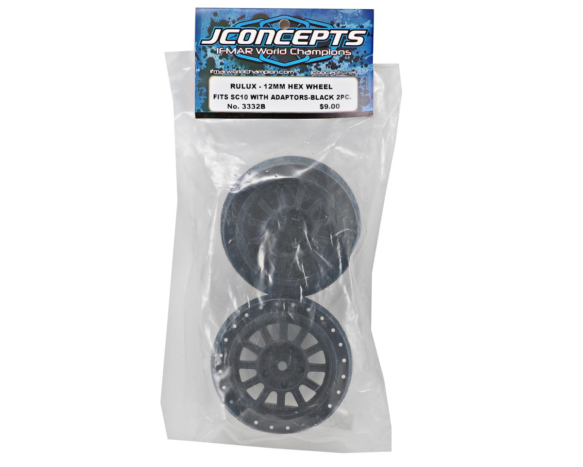JConcepts 12mm Hex Rulux Short Course Wheels (Black) (2) (SC5M)