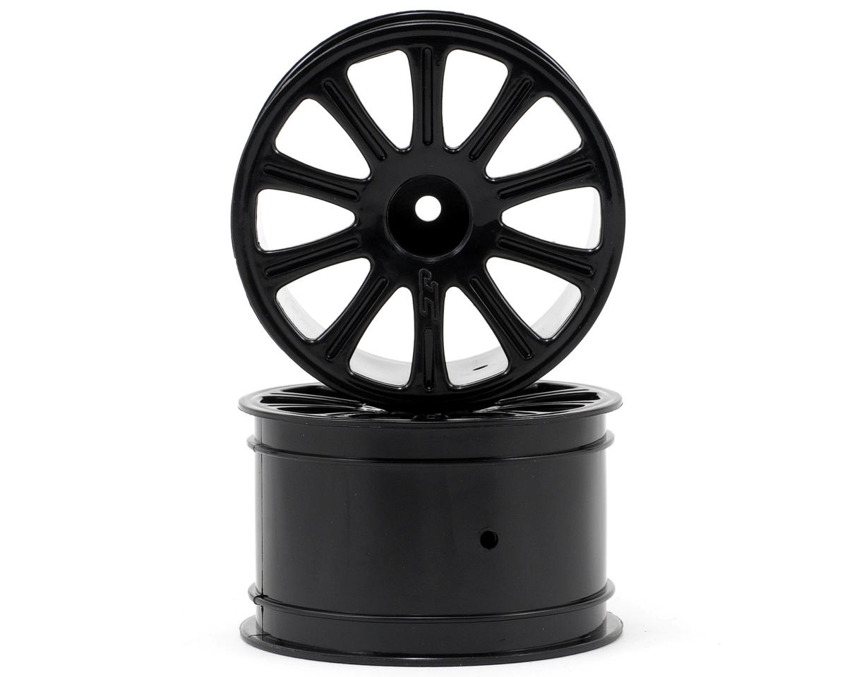 2.2 Rulux Wheel (2) (1/16th E-Revo) (Black) by JConcepts