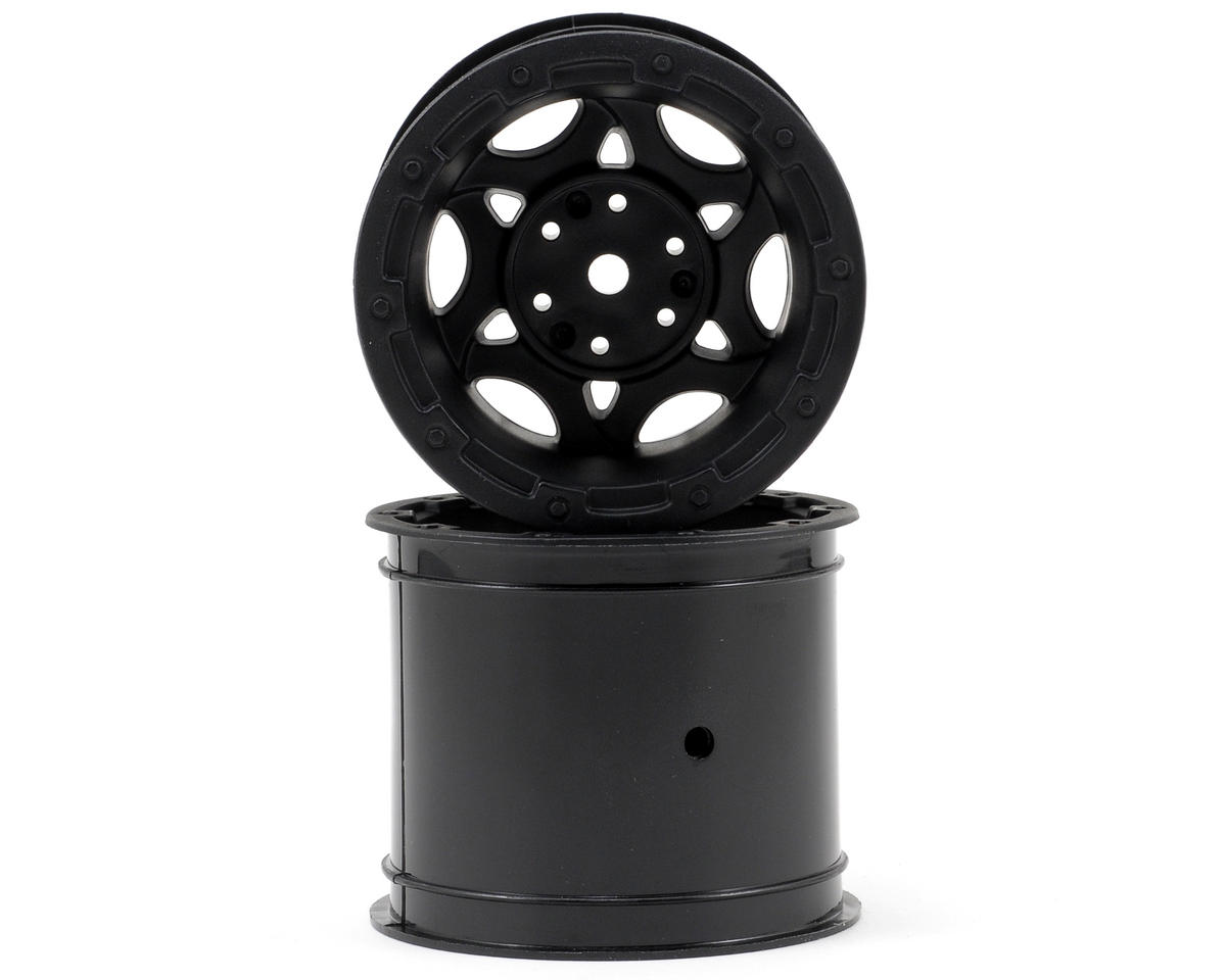 "12mm Hex Tense 2.2"" Stampede/Rustler Electric Rear Wheel (2) (Black) by JConcepts"