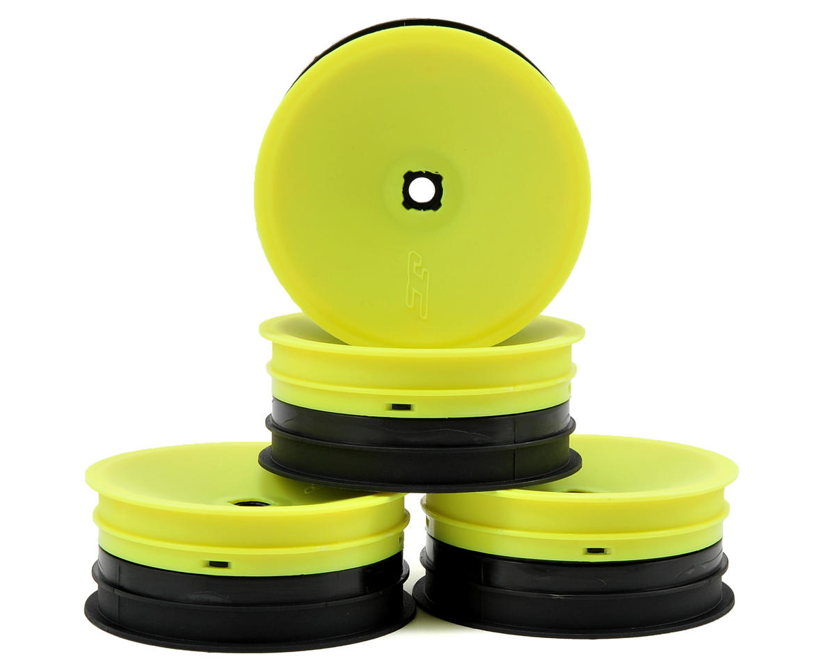 JConcepts 12mm Hex Inverse 2.2 Front Wheels (4) (B5/B4) (Yellow)