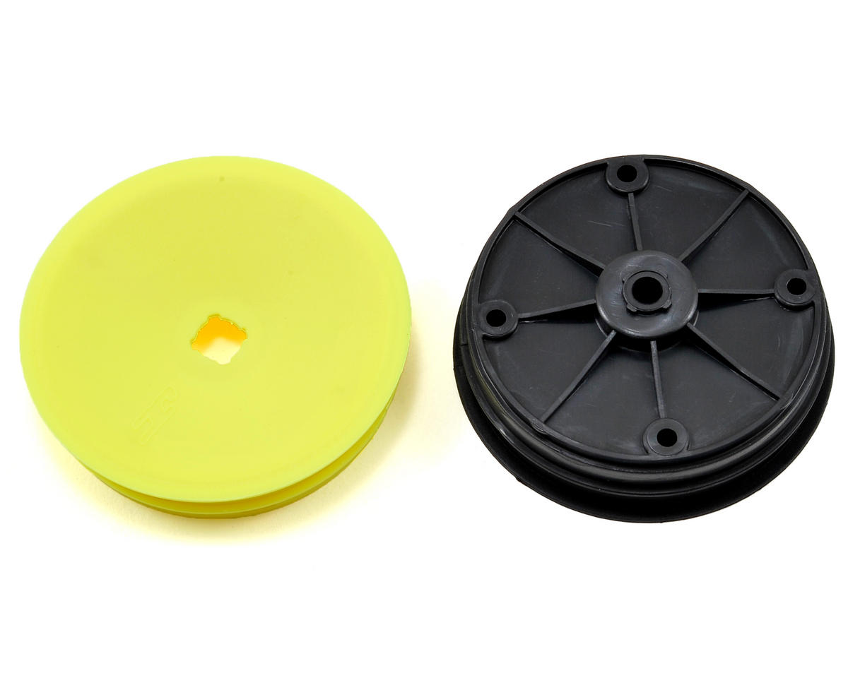 JConcepts 12mm Hex Inverse 2.2 Front Wheels (4) (B6/B5/B4) (Yellow)
