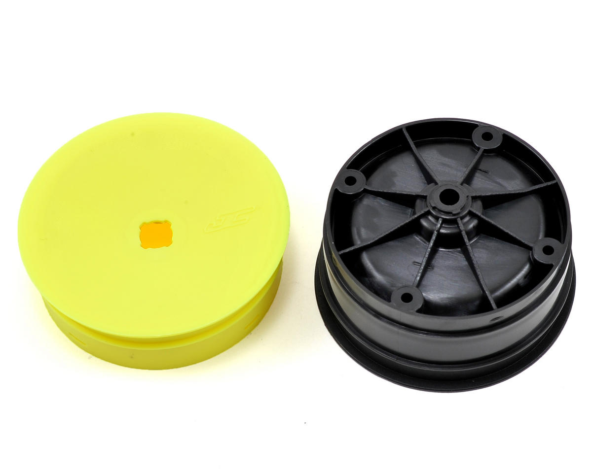 JConcepts 12mm Hex Inverse 2.2 Rear Wheels (4) (B6/B5/B64) (Yellow)