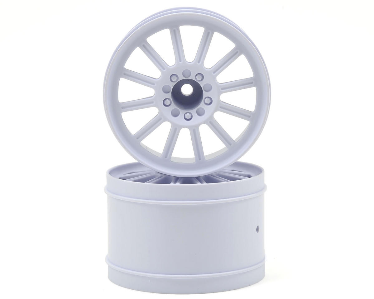 "12mm Hex Rulux 2.8"" Front Wheel (2) (White) by JConcepts"