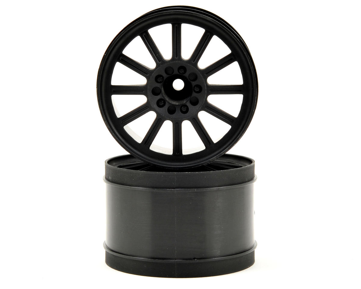 "12mm Hex Rulux 2.8"" Front Wheel (2) (Black) by JConcepts"