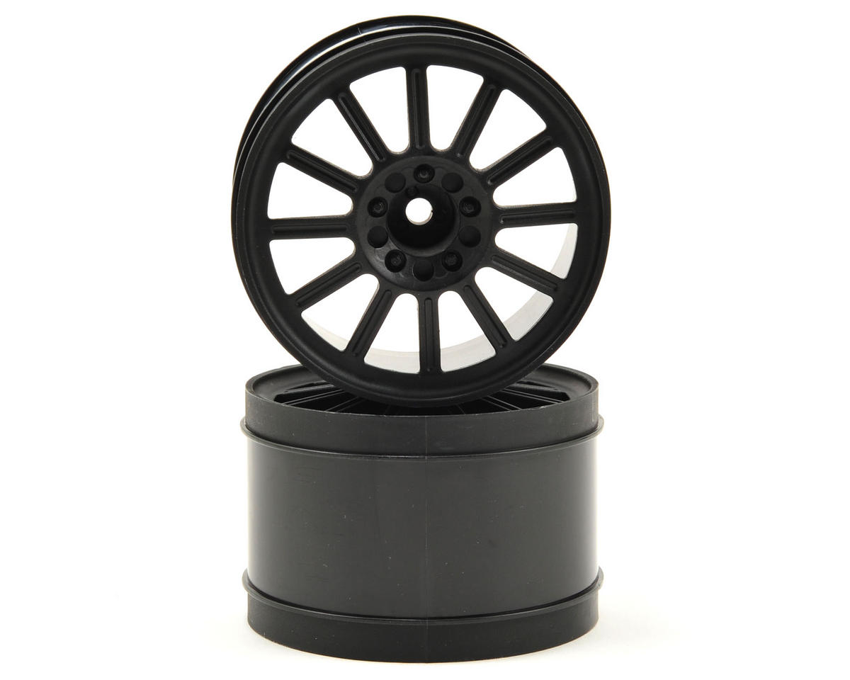 "12mm Hex Rulux 2.8"" Rear Wheel (2) (Black) by JConcepts"