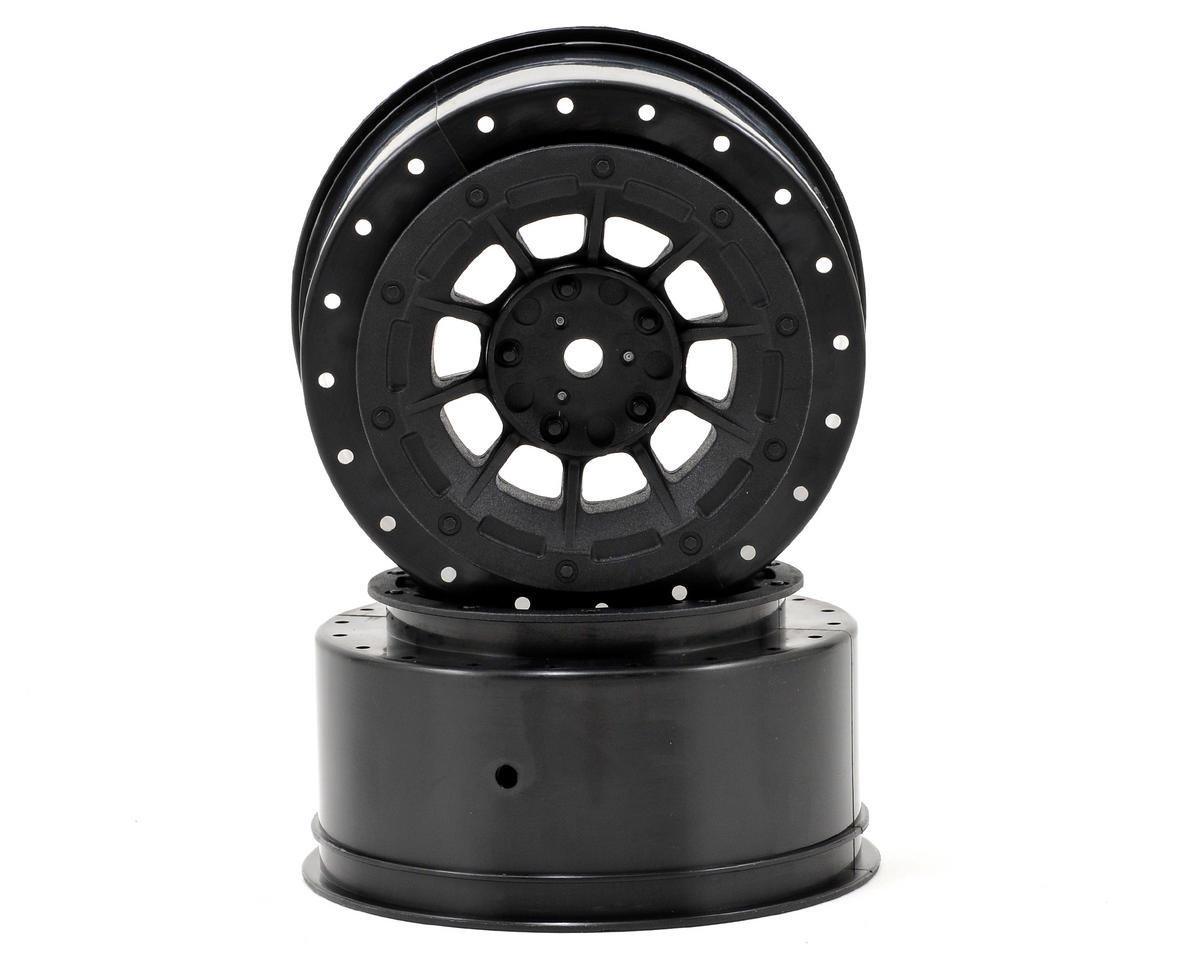 JConcepts 12mm Hex Hazard Short Course Wheels w/3mm Offset (Black) (2) (SC5M) | relatedproducts