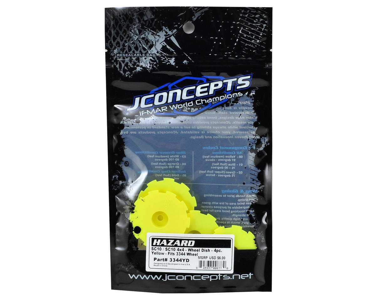 Hazard Wheel Dish (Yellow) (4) (SC5M) by JConcepts